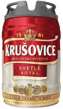 Пиво светлое Krusovice Royal 5% 5л оптом
