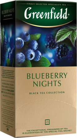 Черный чай Greenfield Blueberry Nights 25 пак оптом